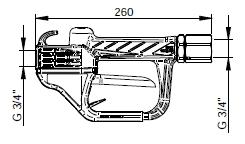 Пистолет PIUSI для подачи масла Pistol-ONE, размеры.