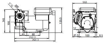 Электронасос дизтоплива PANTHER 12-24 В, размеры.