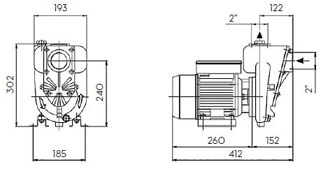 Электронасос для дизтоплива PIUSI E 300 размеры