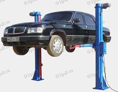 двухстоечный стационарный автомобильный подъемник ПЛД-3, ПЛД-3-01