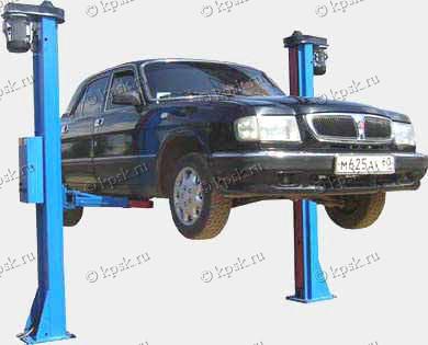 двухстоечный стационарный автомобильный подъемник ПР-3, ПР-3-01