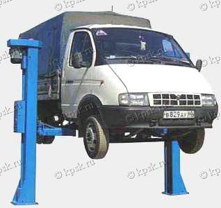 двухстоечный стационарный автомобильный подъемник ПР-5