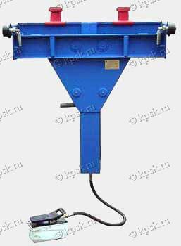 Навесной передвижной канавный автомобильный подъемник ПНК-10 с пневмогидравлическим приводом