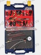;Диагностический набор топливных систем впрыска SMC 1002 предназначен для проведения диагностики топливных систем впрыска бензиновых двигателей и определения неисправностей методом измерения давления