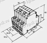 Габаритные размеры автоматического выключателя ВМ40