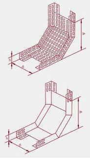 Лотки КП (КПГ) для поворота трассы вверх под углом 90°