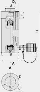 Домкраты гидравлические универсальные (ДУ Х П Y)