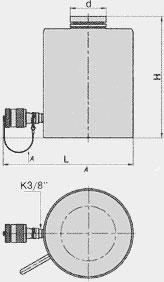 Домкраты гидравлические грузовые (ДГ Х П Y)