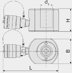 Домкраты гидравлические низкие (ДН Х П Y)