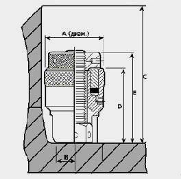 Чертеж шпильконатяжителя серии STU для подводных работ