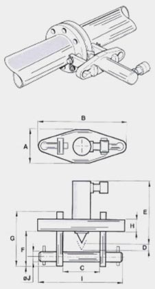 Размеры гидравлического разгонщика фланцев HI-FORCE серии HFS