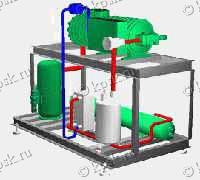 Агрегаты холодильные среднетемпературные с полугерметичным винтовым компрессором