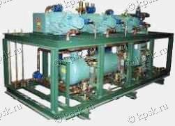 Агрегаты холодильные низкотемпературные с полугерметичным винтовым компрессором