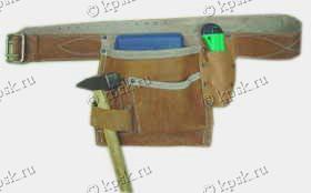 """ДРОМАДЕР"" пояс-сумка одинарная (натуральная кожа) Размер 25х23 см"