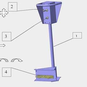 Основные элементы шиномонтажного станка Ш515Е
