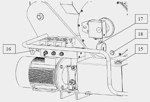 Основные элементы шиномонтажного станка Ш 515 Е