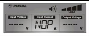 ЖК-дисплей с полностью заполненной шкалой нагрузки
