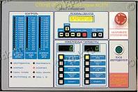 Лицевая панель пульта управления стенда обкаточного КС276