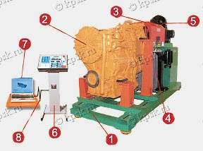 Схема стенда обкаточного модели КС-04