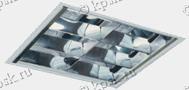 Светильник CMP/R встраивается в подвесные потолки Армстронг или в подшивные потолки из гипсокартона, с помощью клипс