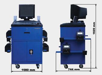 Размеры компьютерного стенда Техно 200 Вектор
