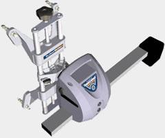 Новый самоцентрирующийся колесный адаптер (захват) с измерительным блоком
