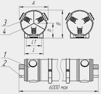 Токопровод ТЗК напряжением 6 и 10 кВ на токи 1600, 2000 А
