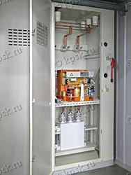 Регулируемые установки компенсации реактивной мощности УКРМ предназначены для повышения и автоматического регулирования коэффициента мощности (cos φ) электроустановок промышленных предприятий и распределительных сетей напряжением 6(10) кВ частоты 50 Гц