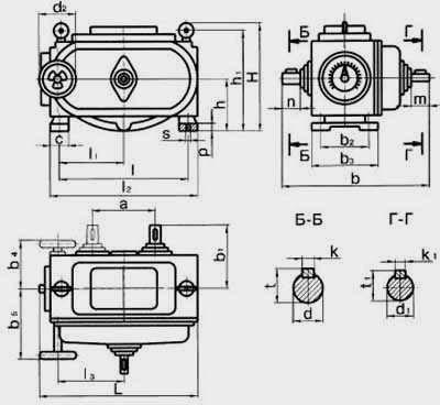 Цепные пластинчатые вариаторы типа ВЦ с одноступенчатой редукторной приставкой на вход