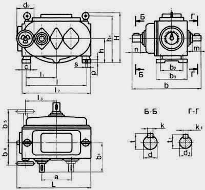 Цепные пластинчатые вариаторы типа ВЦ с одноступенчатой редукторной приставкой на выходе