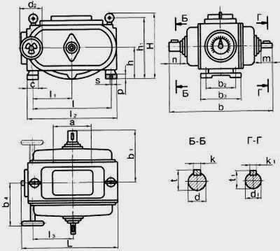 Цепные пластинчатые вариаторы типа ВЦ с одноступенчатой редукторной приставкой на входе и выходе
