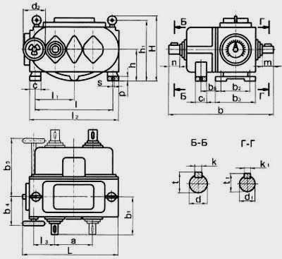 Цепные пластинчатые вариаторы типа ВЦ с двухступенчатой редукторной приставкой на выходе
