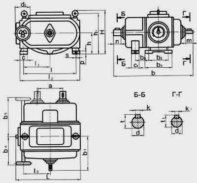 Цепные пластинчатые вариаторы ВЦ с одноступенчатой редукторной приставкой на входе и двухступенчатой на выходе