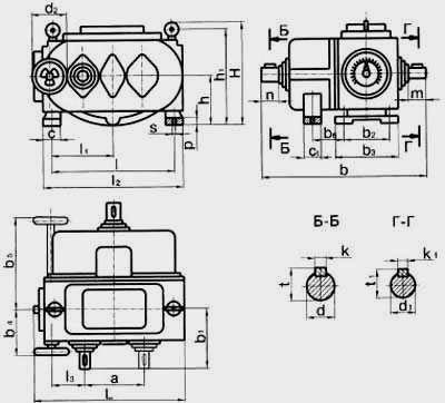 Цепные пластинчатые вариаторы типа ВЦ с трехступенчатой редукторной приставкой на выходе