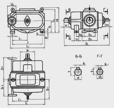 Цепные пластинчатые вариаторы типа ВЦ с одноступенчатой редукторной приставкой на входе и трехступенчатой на выходе